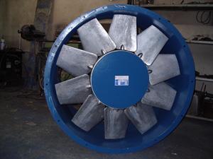 Ventilator sa siluminskim radnim kolom